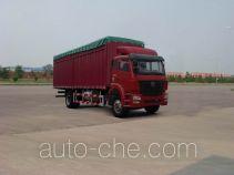 豪瀚牌ZZ5165CPYF5213C1型蓬式运输车