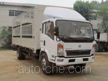 豪沃牌ZZ5137CCYG4215D1型仓栅式运输车