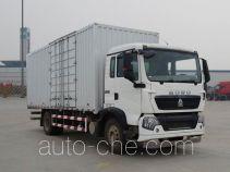 豪沃牌ZZ5167XXYK561GE1B型厢式运输车