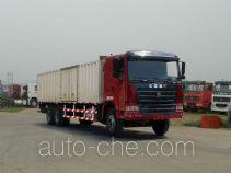 豪运牌ZZ5255XXYN5245C型厢式运输车
