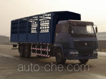 Sida Steyr ZZ5256CLXM56C6A грузовик с решетчатым тент-каркасом