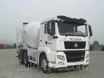 汕德卡牌ZZ5256GJBN434MD1型混凝土搅拌运输车