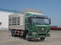 豪沃牌ZZ5257CCYM4347D1L型仓栅式运输车
