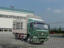 豪沃牌ZZ5257CCYM4347E1L型仓栅式运输车