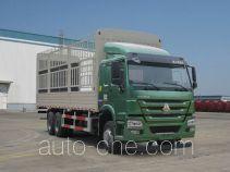 豪沃牌ZZ5257CCYM4647D1型仓栅式运输车