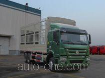 豪沃牌ZZ5257CCYM4647E1L型仓栅式运输车