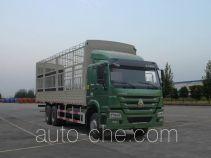 豪沃牌ZZ5257CCYM5847E1L型仓栅式运输车