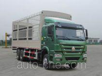 豪沃牌ZZ5257CCYN4347D1型仓栅式运输车
