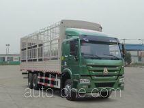 豪沃牌ZZ5257CCYN5247D1型仓栅式运输车