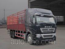 豪沃牌ZZ5257CCYN584MD1型仓栅式运输车
