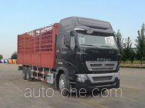 汕德卡牌ZZ5257CCYV584HC1型仓栅式运输车