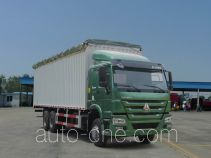 豪泺牌ZZ5257CPYM4347D1型蓬式运输车