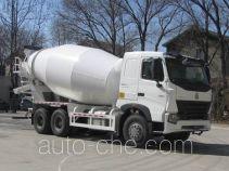豪泺牌ZZ5257GJBN4047P1型混凝土搅拌运输车