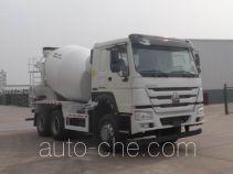 豪沃牌ZZ5257GJBN4347E1B型混凝土搅拌运输车