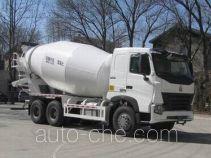 豪沃牌ZZ5257GJBN4347P1型混凝土搅拌运输车