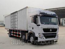 豪沃牌ZZ5257XXYN56CGD1型厢式运输车