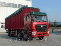Sinotruk Hohan ZZ5315CPYM4666C1 soft top box van truck
