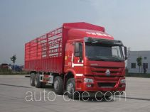 豪沃牌ZZ5317CCYN3867E1LB型仓栅式运输车