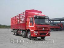 豪沃牌ZZ5317CCYN4667E1LB型仓栅式运输车