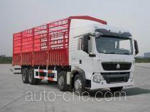 豪沃牌ZZ5317CCYN466GD1型仓栅式运输车