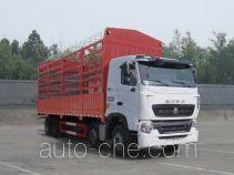 豪沃牌ZZ5317CCYN466WE1型仓栅式运输车