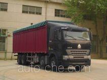 Sinotruk Howo ZZ5317CPYM4667P1B soft top box van truck
