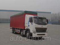 豪泺牌ZZ5317CPYN4667P1LB型蓬式运输车