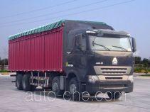 豪泺牌ZZ5317CPYN4667Q1LH型蓬式运输车
